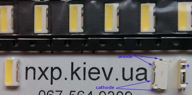 LED Samsung 7032 3V 120ma LED для телевизора купить.